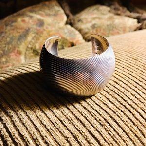 Jewelry - Classic sterling silver wide cuff bracelet